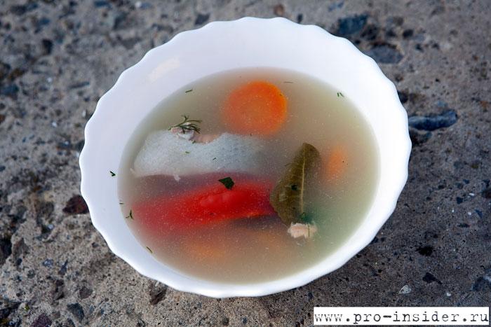 Рыбный суп. База отдыха «Клевое место»