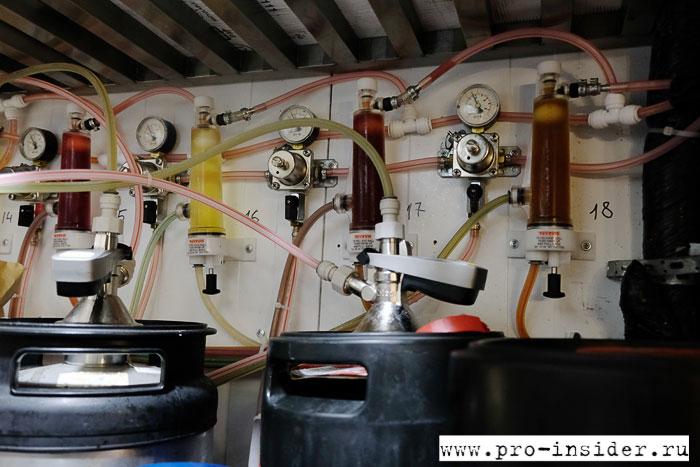 Система подачи напитков из кегей в краны