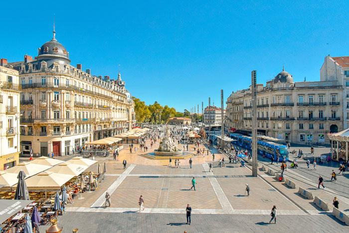 Place Comedie , Montpellier. Франция