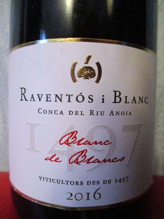 Raventós i Blanc Brut Blanc de Blancs Conca del Riu Anoia