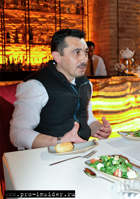 Орхан Карадемир. Ресторан «Sarniç»