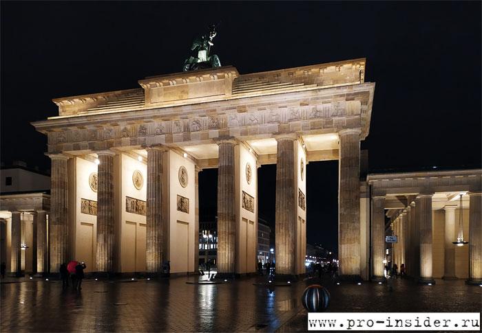 Бранденбургские ворота. Берлин. Германия