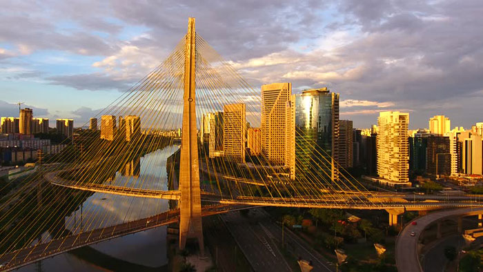 Октавио Фриас де Оливейра мост / Сан-Паоло / Бразилия